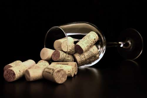 Cork Wine Wine Glass Glass Of Wine Cover Abstract