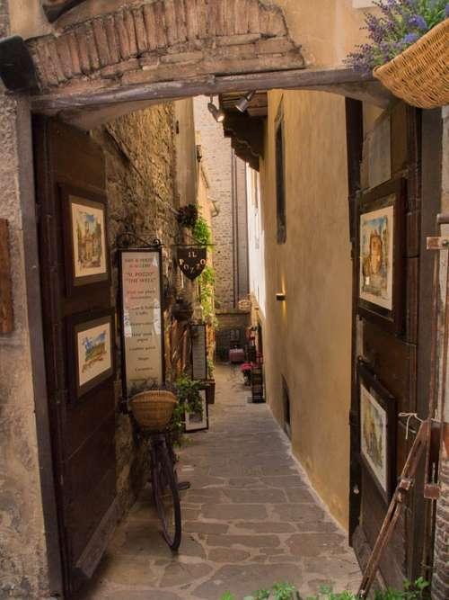 Cortona Alley Frames Italy