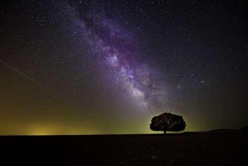 Cosmos Dark Hd Wallpaper Milky Way Night