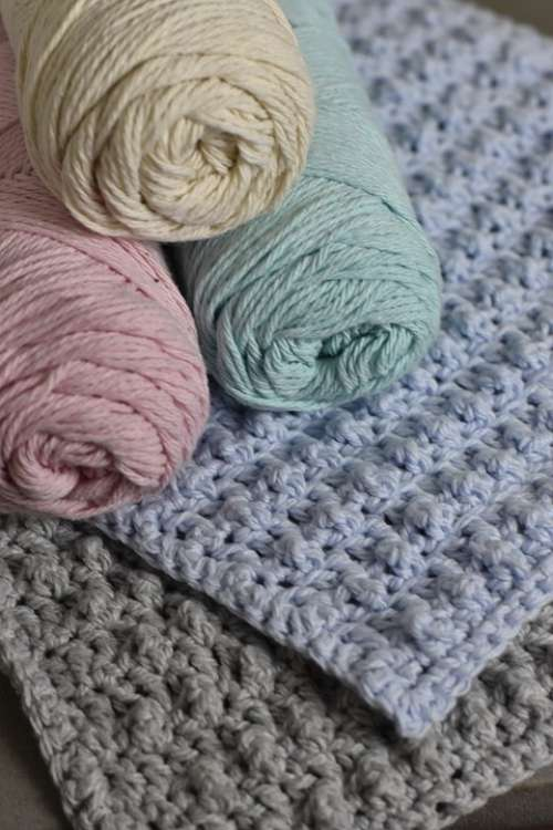 Cotton Crochet Washcloth Pastel