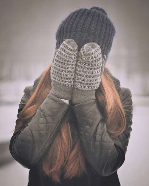 Covering Face Girly Winter Clothes Female Cover