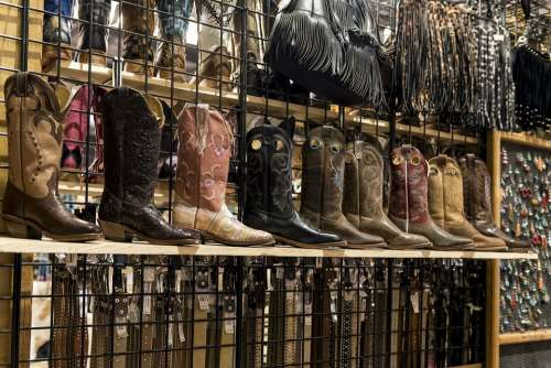 Cowboy Boots Shelves Styles Shoe Boot Belts Gear