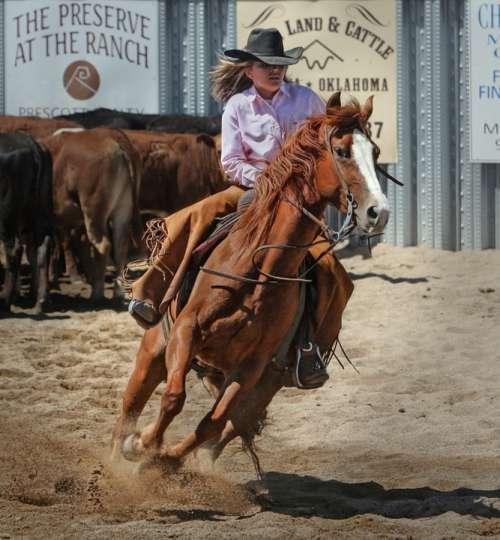 Cowgirl Horse Cowboy Horseback Sport Equestrian