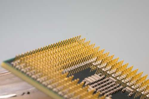 Cpu Processor Macro Pen Pin Computer Electronics