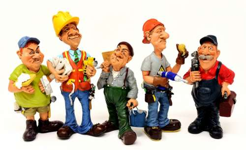 Craftsmen Site Workers Force Figures Funny Diy
