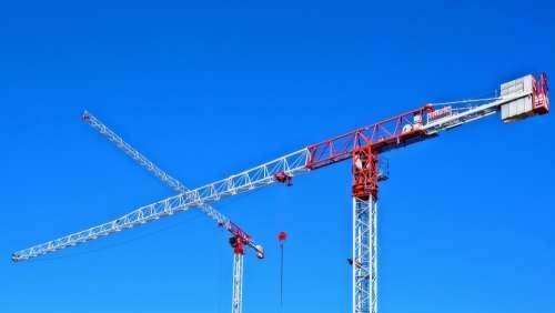 Crane Site Sky Construction Real Estate Building