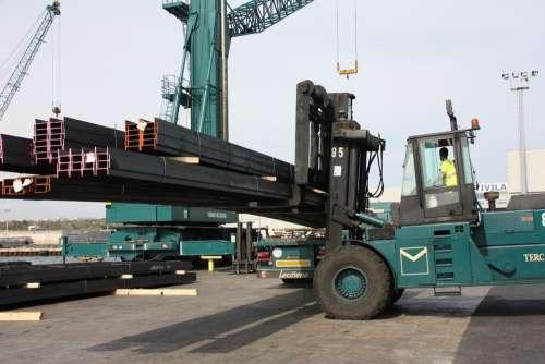 Crane Transport Port Maritime Transport Load Truck