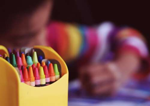 Crayons Coloring Child Color Child Coloring Colour