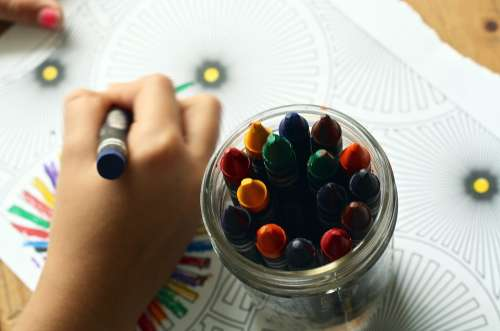 Crayons Coloring Book Coloring Book Colors
