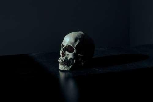 Creepy Dark Eerie Scary Skull Death Dead Human