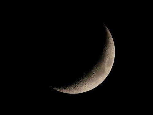 Crescent Moon Lunar Astrophotography Satellite