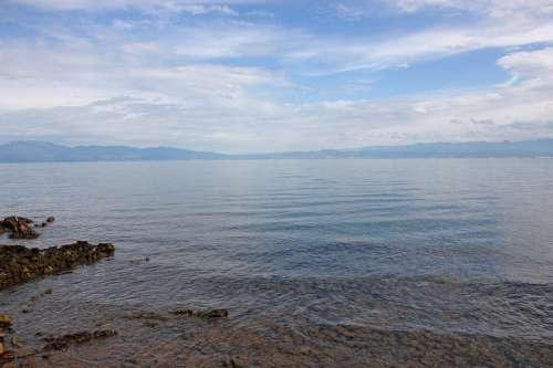 Croatia Vacations Sea Sky Clouds Summer Travel