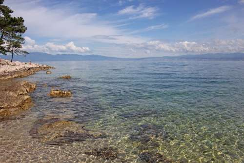 Croatia Sea Adriatic Sea Background Sky Clouds