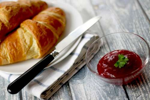 Croissants Jelly Breakfast Puff Paste Puff Pastry