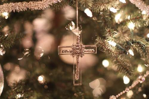Cross Ornament Christmas Christmas Decorations