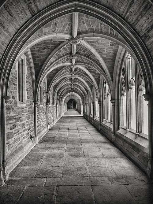 Cross-Coat Cloister Architecture Religious