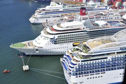 Cruise Ship Sea Tourism Port Holiday Boat Travel