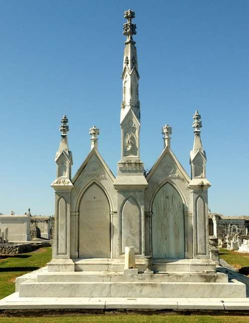 Crypt Tomb Headstones New Orleans Louisiana
