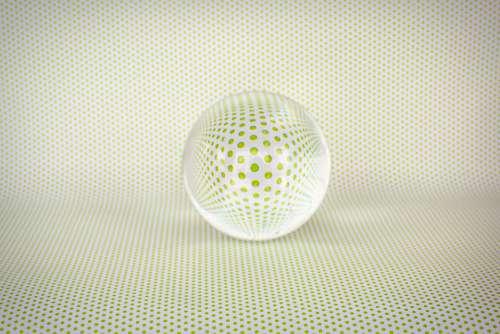 Crystal Ball Reflection Polka Dots Green