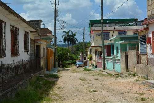 Cuba Villages Village Road House Building Old