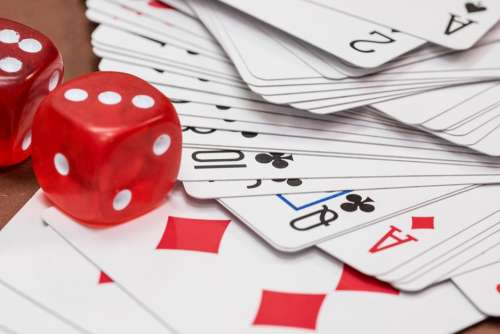 Cube Gambling Card Game Roll The Dice Cards