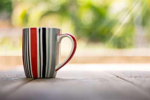 Cup Coffee Vintage Drink Cafe Closeup Bokeh
