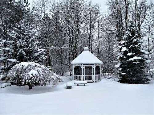 Cupola Winter Snow Covered Landscape Architecture