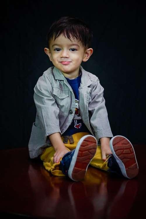 Cute Baby Portrait Small Innocent Person Adorable