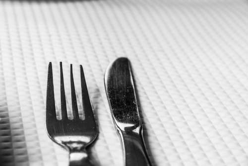 Cutlery Fork Knife Table