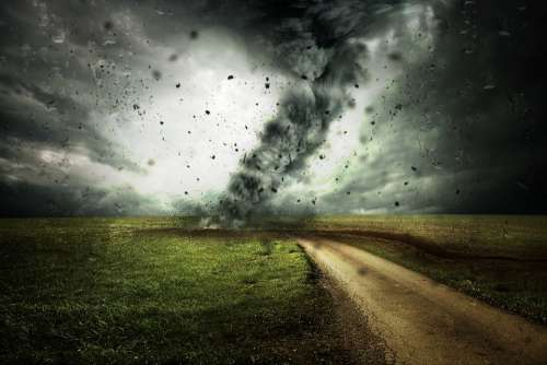 Cyclone Forward Hurricane Storm Clouds