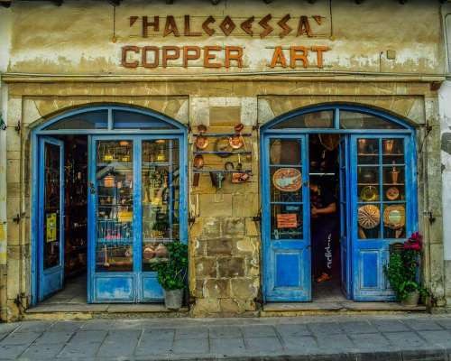 Cyprus Larnaca Old Town Shop Architecture Street