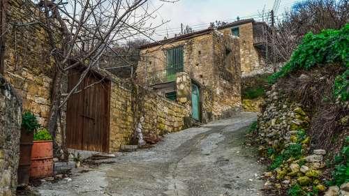 Cyprus Arsos Village Street Houses Architecture