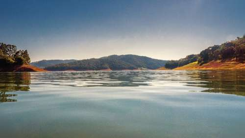 Dam Agua Lake Sky Summer Water Landscape