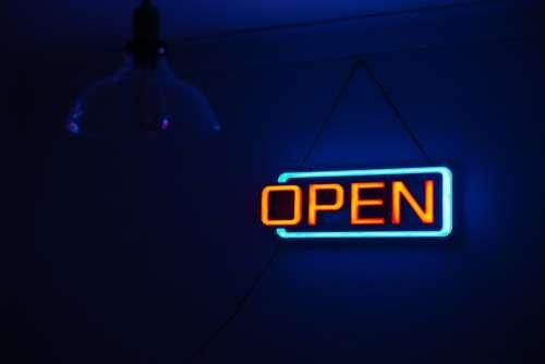Dark Light Neon Neon Sign Open Sign