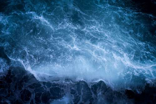 Dark Ocean Sea Water Wave