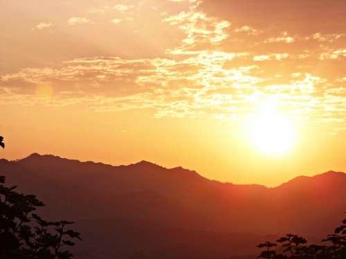 Dawn Sun Morning Morning Sun Horizon First Light