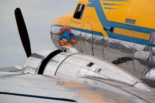 Dc 3 Propeller Plane Passenger Aircraft Motor