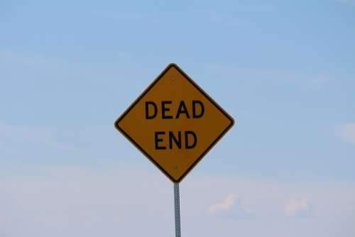 Dead End Sign Symbol Social Banner Communication