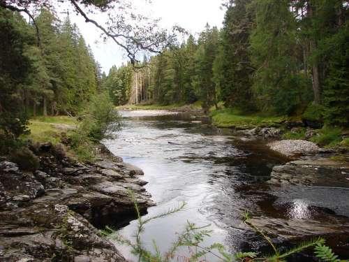 Dee Scotland River Landscape Braemar
