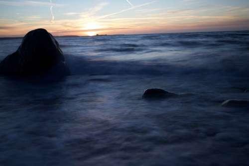 Denmark Kalunborg Sea Peaceful Coast Sunset Sky