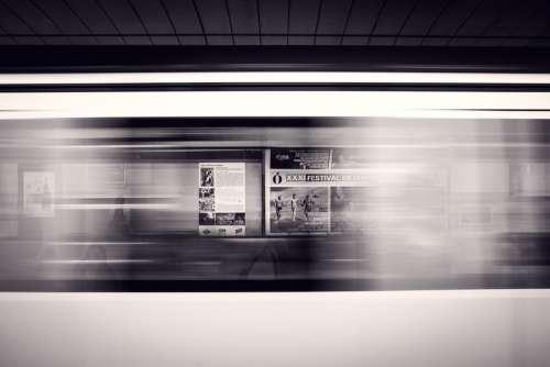 Departure Platform Subway Station Platform