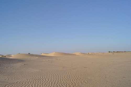 Desert Sand Dry Landscape Hot Dunes Sahara