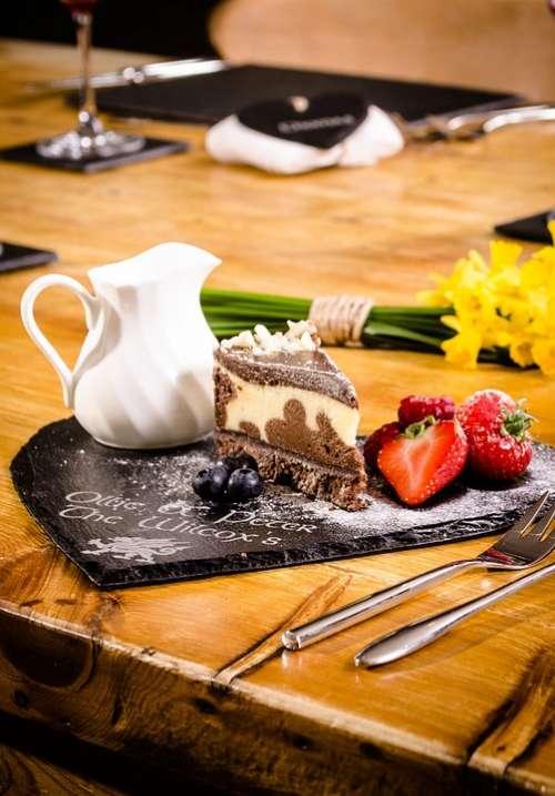 Desert Slate Pudding Dining Food Dessert Sweet