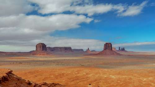 Desert Landscape Monument Valley Mountains Usa