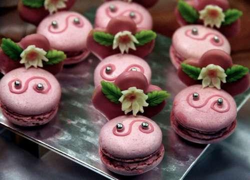 Dessert Sweet Macro Candy Gastrofest Pink Puffs
