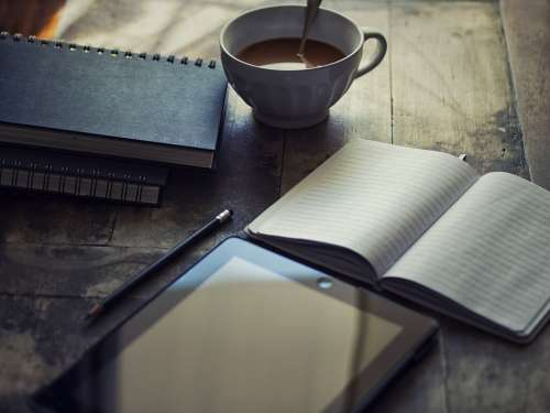 Diary Ipad Write Blog Workplace Notebook