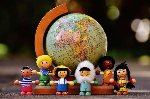 Different Nationalities Children Human Globe