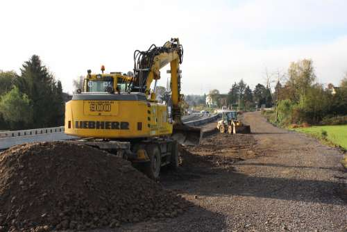 Digger Building Lot Construction Working