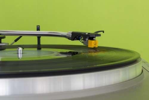 Disco Turntable Vinyl Music Green