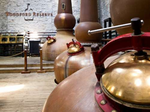 Distillery Bourbon Whiskey Vats Copper Liquor